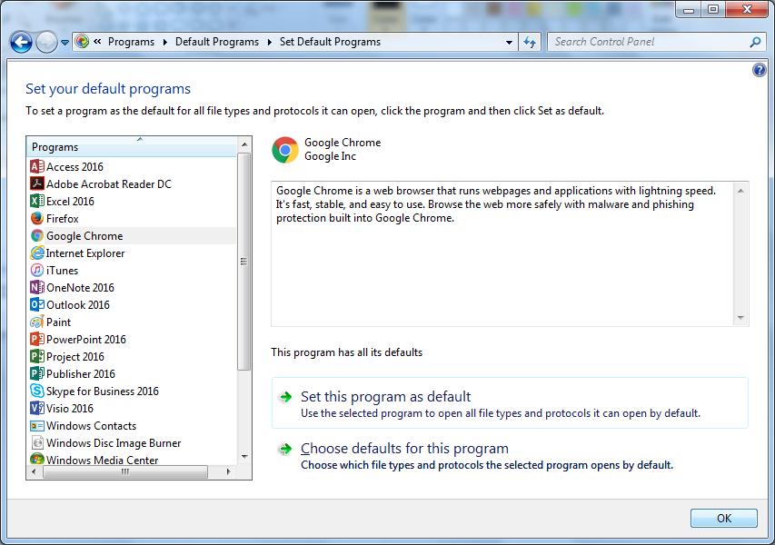 default browser windows 7 step 4