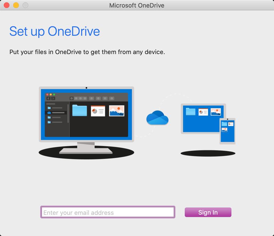 onedrive mac step 1
