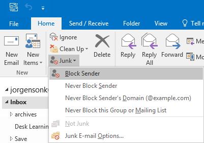 block senders pc