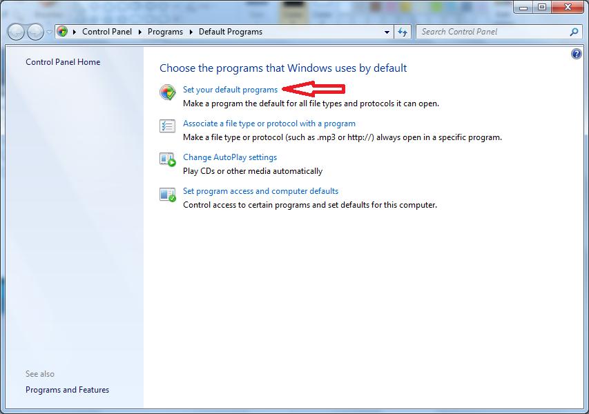 default browser windows 7 step 2