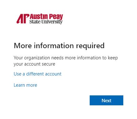 azure password manager enroll step 1