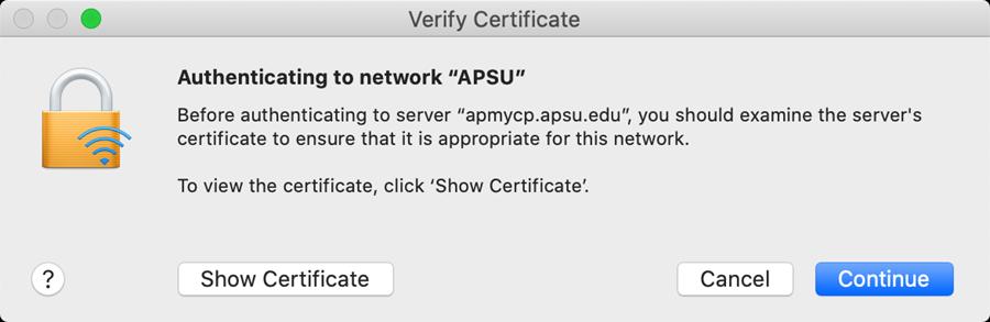 APSU network mac step 4