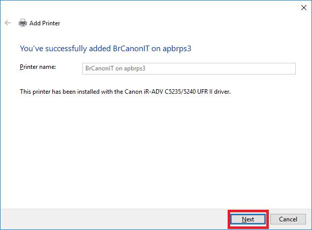network printer windows 10 step 8