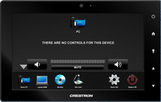 crestron input pc