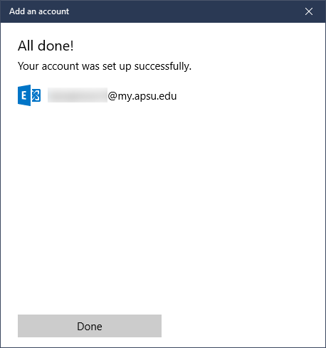 student email windows 10 step 6