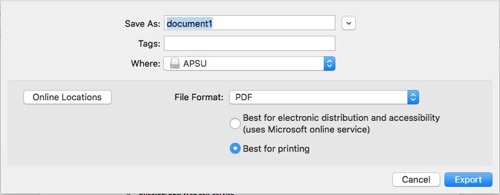 convert word to pdf on mac step 3