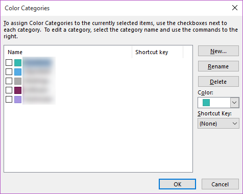 outlook categories pc step 2