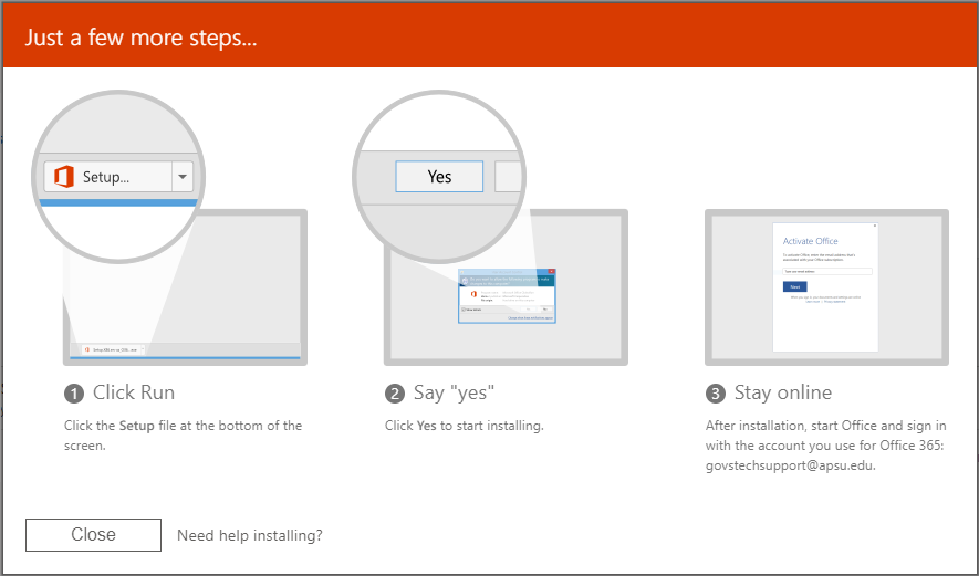 office 365 employee install step 6