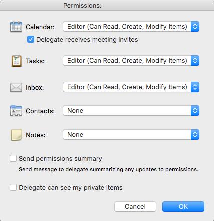 delegate access mac step 7