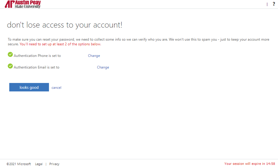 azure password manager update step 4