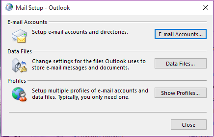 additional email accounts step 2