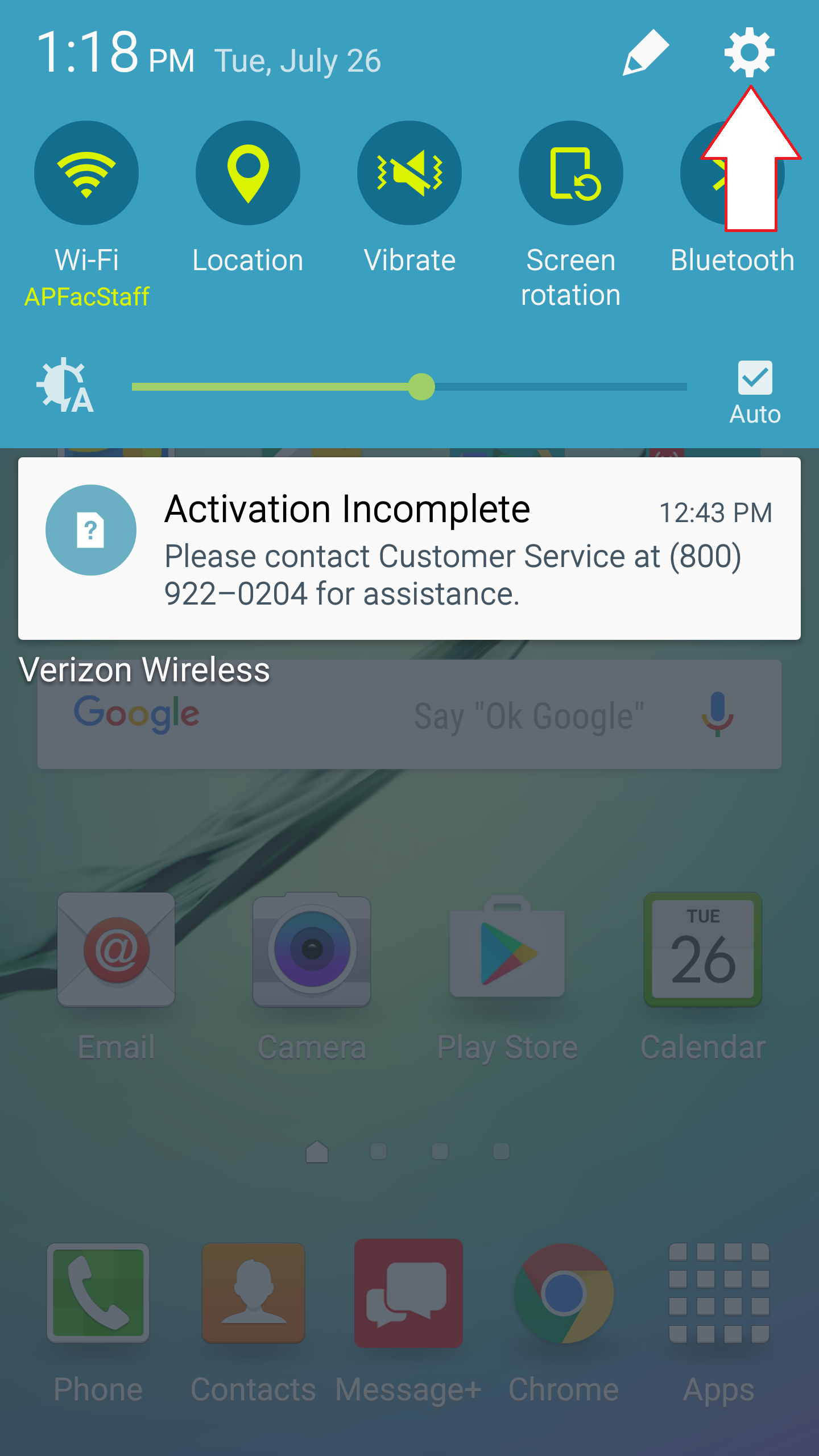faculty/staff email android step 1