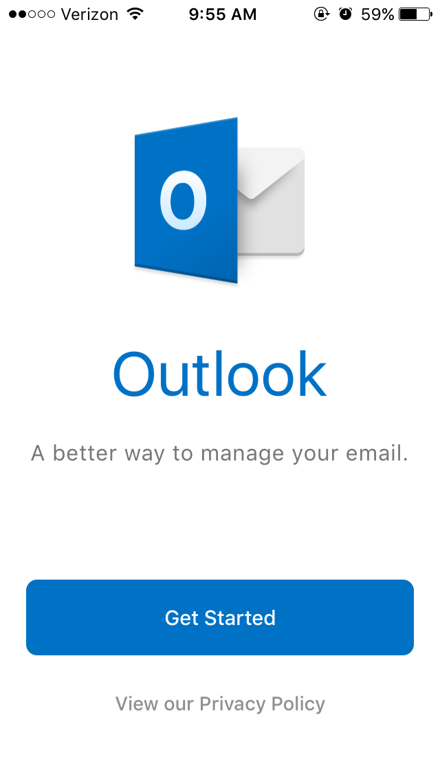student email outlook app step 1