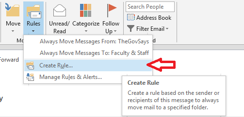 inbox rules pc step 1