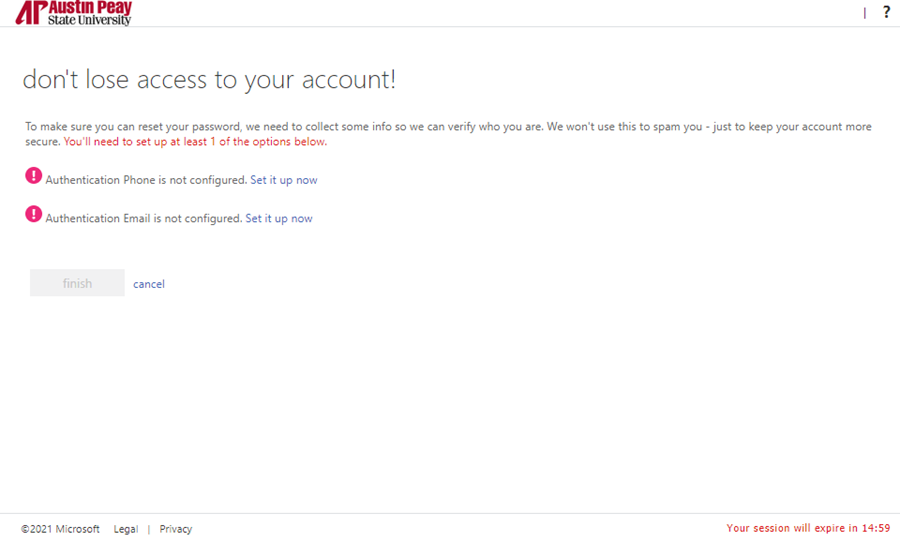 azure password manager enroll step 4
